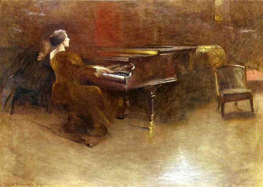 At the Piano (also known as Helen Hopekirk Wilson, 1894)